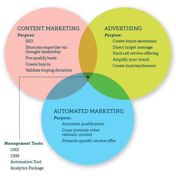 Professional Services Content Marketing Model