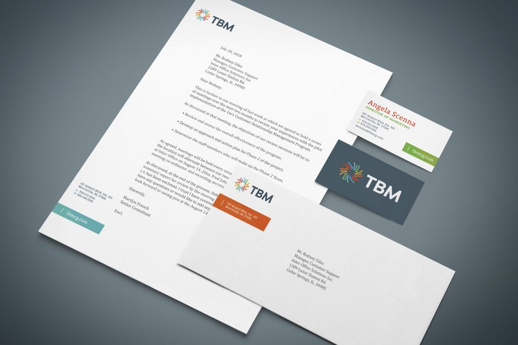 TBM Letterhead and Business Card